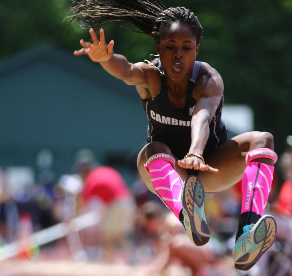 Brianna Duncan became the first female athlete in state history to capture state titles in three events at All-States.