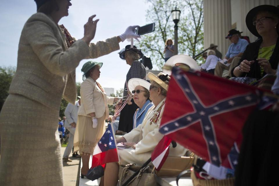 Members of the United Daughters of the Confederacy gathered on the steps of the Alabama State Capitol to celebrate Confederate Memorial Day April 27.