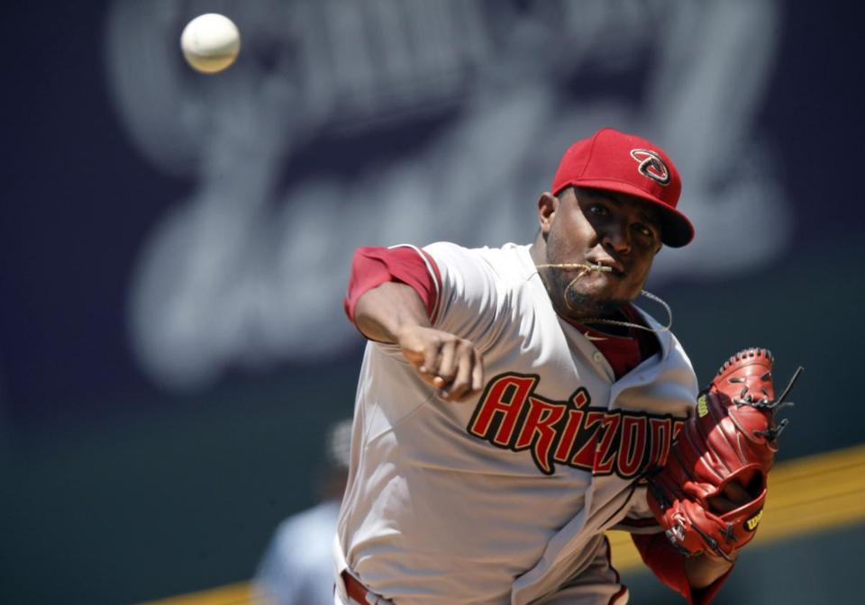 Rubby De La Rosa has been tagged for a .299 average and .908 OPS vs. lefties as opposed to .211/.569 vs. righties.
