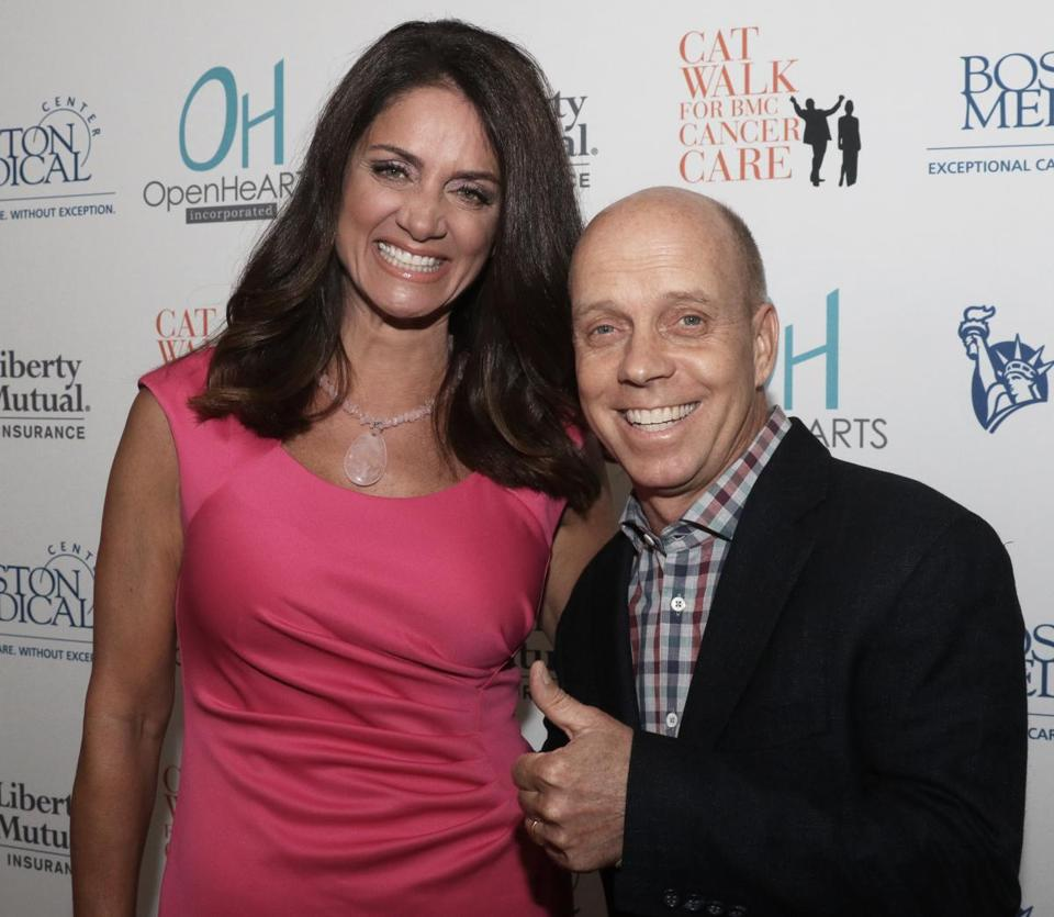Scott Hamilton with Kim Khazei of WHDH-TV in 2015.