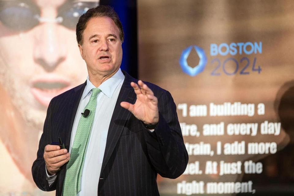 "Boston 2024 chairman Steve Pagliuca said hosting the Olympics ""will leave Boston a lot better off and be very transformational for us."""