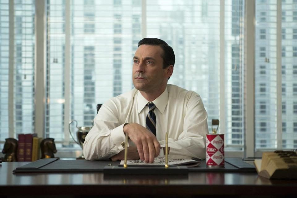 "HOThis photo provided by AMC shows, Jon Hamm as Don Draper, in a scene from ""Mad Men,"" season 7. ""Empire"" and ""Mad Men"" are among the leading contenders for the 67th Emmy Award nominations, to be announced 11:30 a.m. EDT Thursday, July 16, 2015, in West Hollywood, Calif. The Los Angeles ceremony will air Sept. 20 on Fox with host Andy Samberg. (Justina Mintz/AMC via AP)"