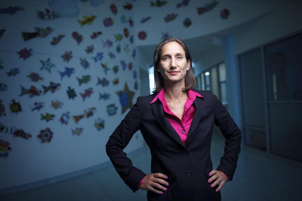 7/21/2015 - Grand Rapids, MI - Helen Devos ChildrenÕs Hospital - Dr. Giselle Sholler, MD, runs the Neuroblastoma Translational Research Laboratory, which is focused on identifying new therapies for children with neuroblastoma. She runs a clinical trial wit the the drug D,L-?-difluoromethylornithine, or more commonly called DFMO. Story about DFMO by Billy Baker/Globe Staff. Photo by Dina Rudick/Globe Staff. Will Lacey