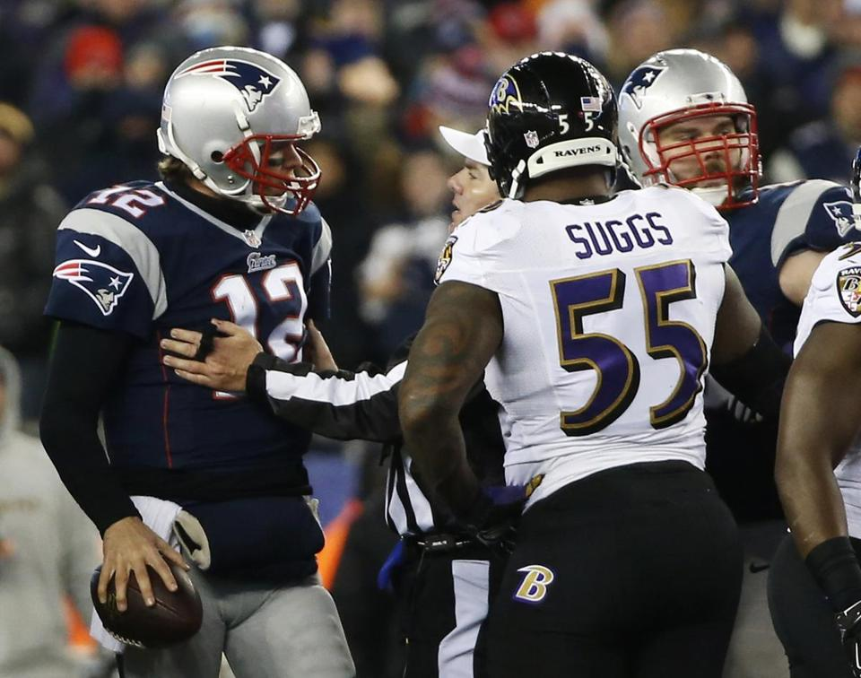 Terrell Suggs defended Tom Brady back in June.