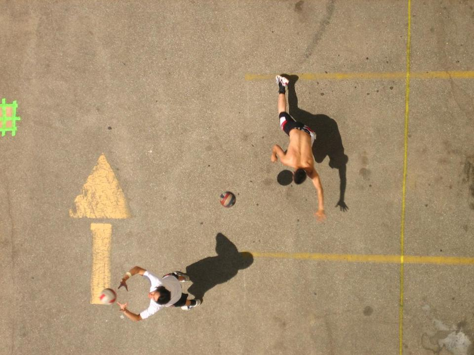 "A scene from Ursula Liang's ""9-Man: A Streetball Battle in the Heart of Chinatown."""
