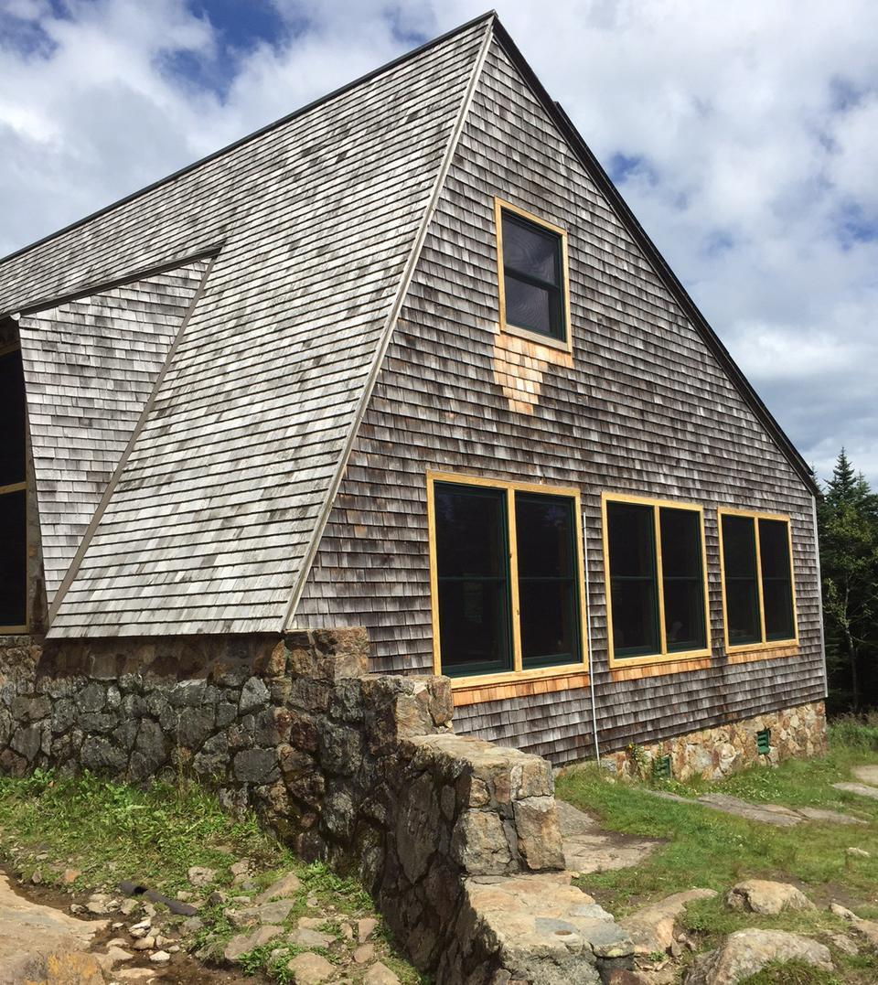 Mizpah Spring Hut in New Hampshire is nearly 4,000 feet above sea level.