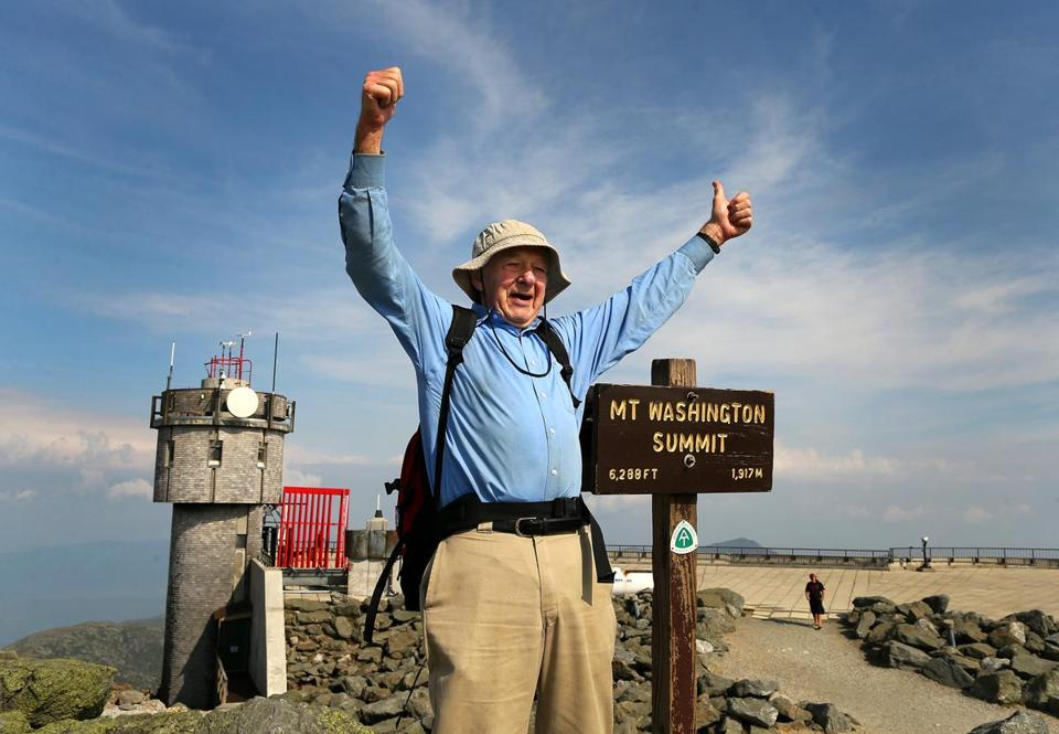 """This is the last time I climb Mount Washington,"" Dick Dreselly said. ""At least until the next time."""