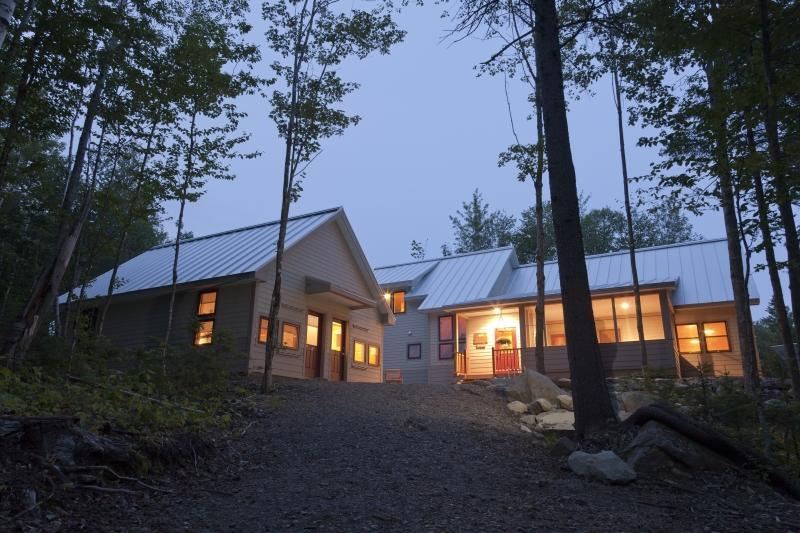 The author and his wife made Poplar Stream Falls Hut their second stop.