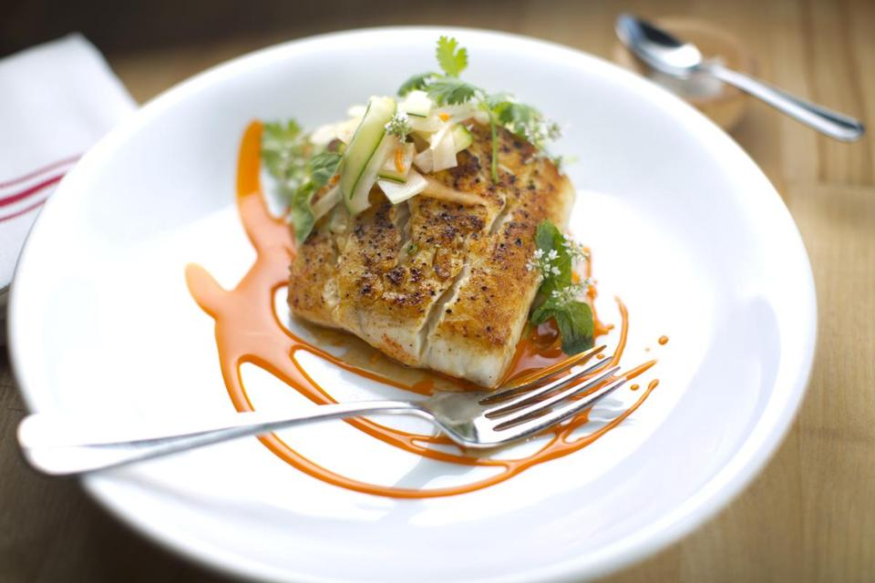 Pan-roasted local fluke is an allergy-friendly entree at Sycamore.