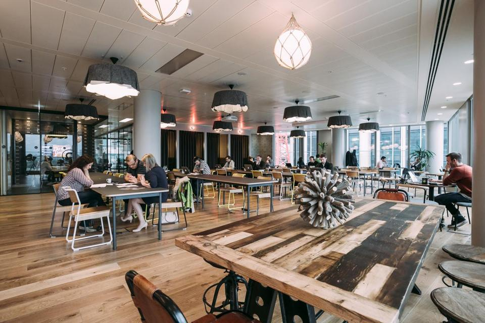 WeWork, which operates nationally, rents space to small businesses and freelancers on a short-term basis.