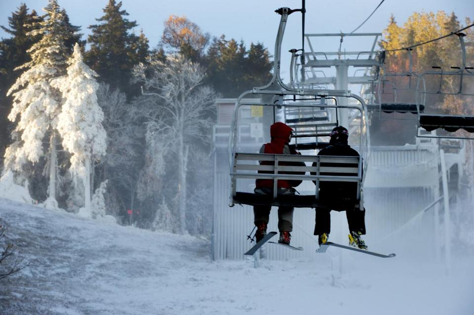 Newry, Maine--October 19,2015- Globe Staff Photo by Stan Grossfeld- Sunday River ski resort is open for the 2015-16 season.