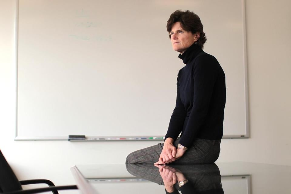 Anne Scott, photographed in the Cambridge office of her lawyer, Eric MacLeish.