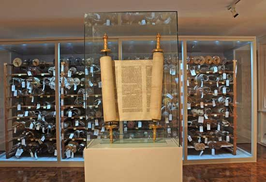 25sotorah - ***WARNING: LO RES, do not use for more than 1.5 columns *** - Czech Torah scrolls that survived the Holocaust, now in the care of the Memorial Scrolls Trust. (Memorial Scrolls Trust)