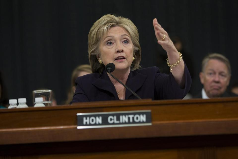 Hillary Clinton testified before the House Select Committee on Benghazi in Washington, D.C., on Thursday.
