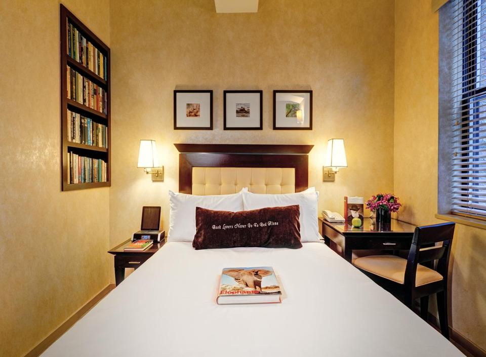 Debuting this season; a room at the Library Hotel near the New York Public Library.