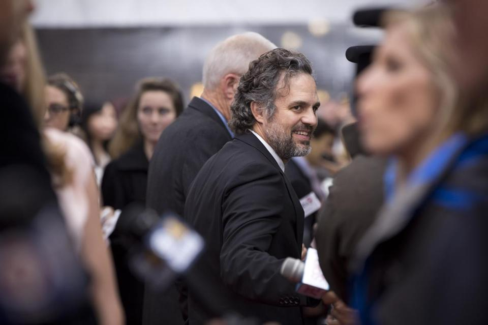 Mark Ruffalo on the red carpet.