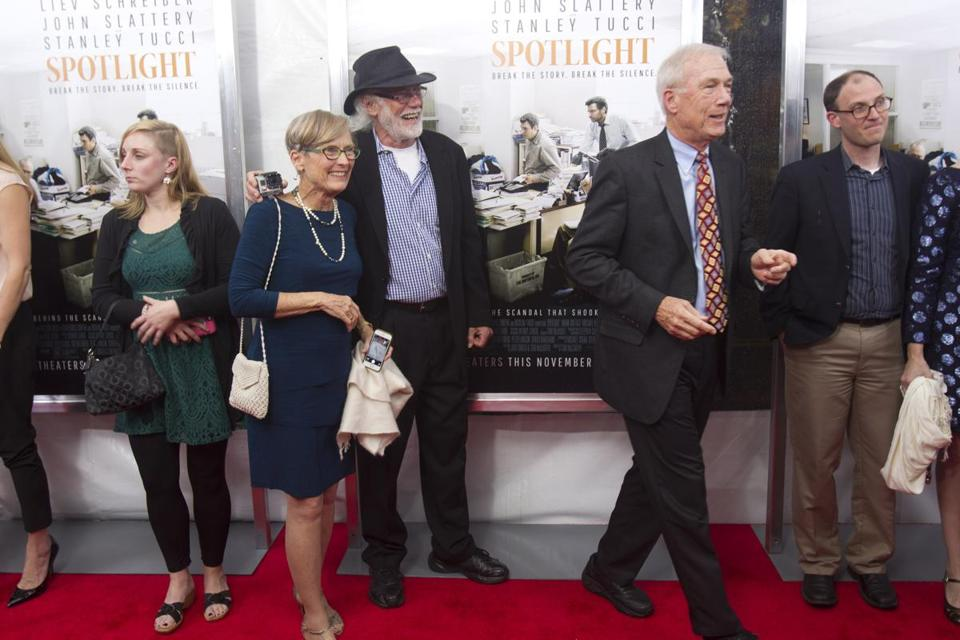 Walter Robinson (at right) walked the red carpet.