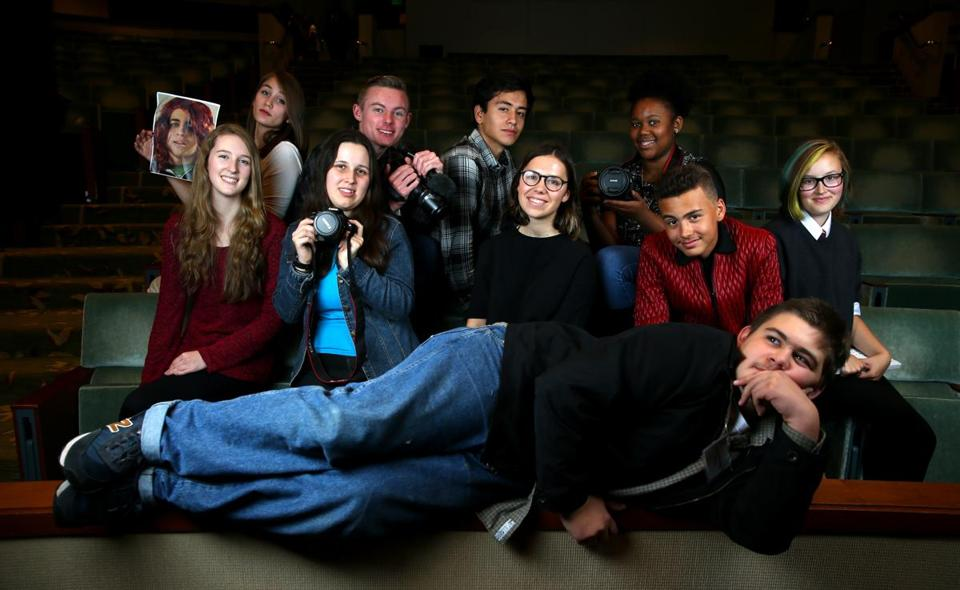 Top: Student filmmakers (front) Liam Mulcahy; (middle row, from left) Audrey Larson, Shay Martin, Margaret Gill, James Sowinski, and Lizzy Embick; (back row, from left) Emily Wood, John Kohler, Kevin Castro, and Rajaiah Jones.