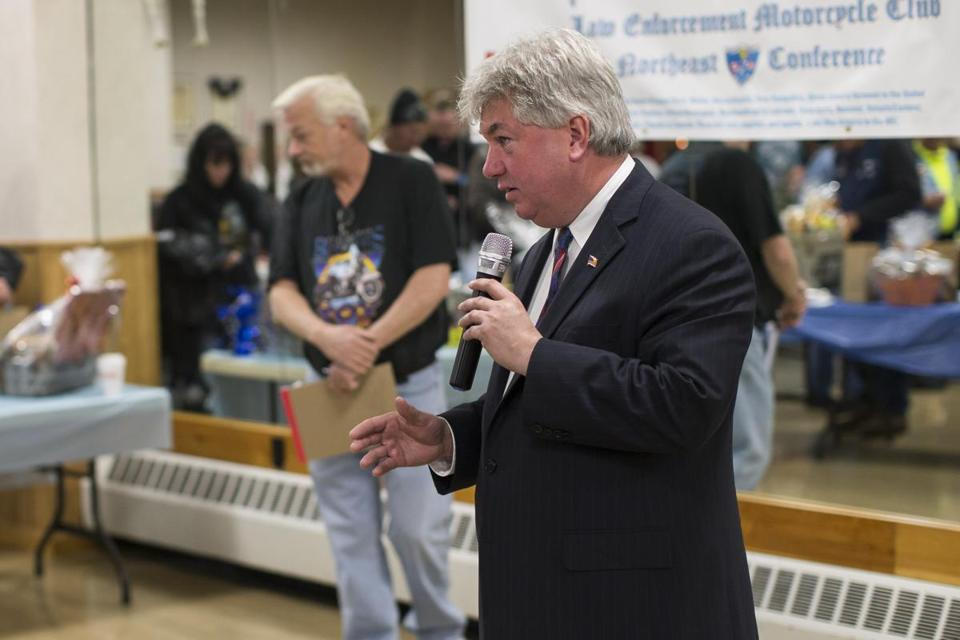 State Representative Michael D. Brady spoke Sunday during a campaign stop in Brockton. Brady defeated another state representative, Geoffrey G. Diehl, for a seat in the state Senate.