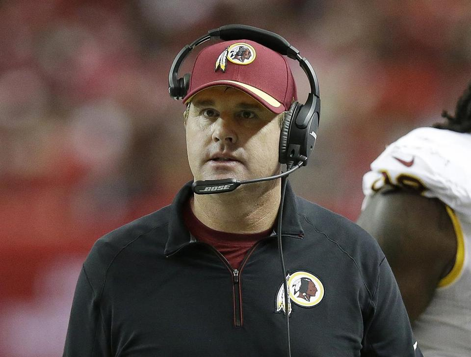 Redskins coach Jay Gruden will have his work cut out for him Sunday in Foxborough.