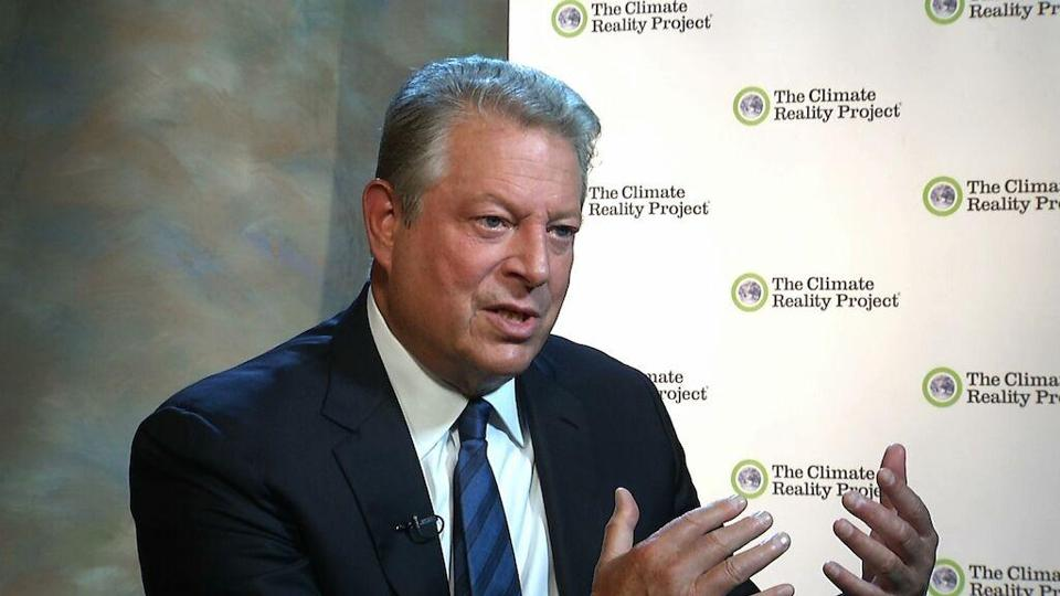 """There really is a wave [of] corporate America moving rapidly toward a low-carbon economy,"" former vice president Al Gore said."