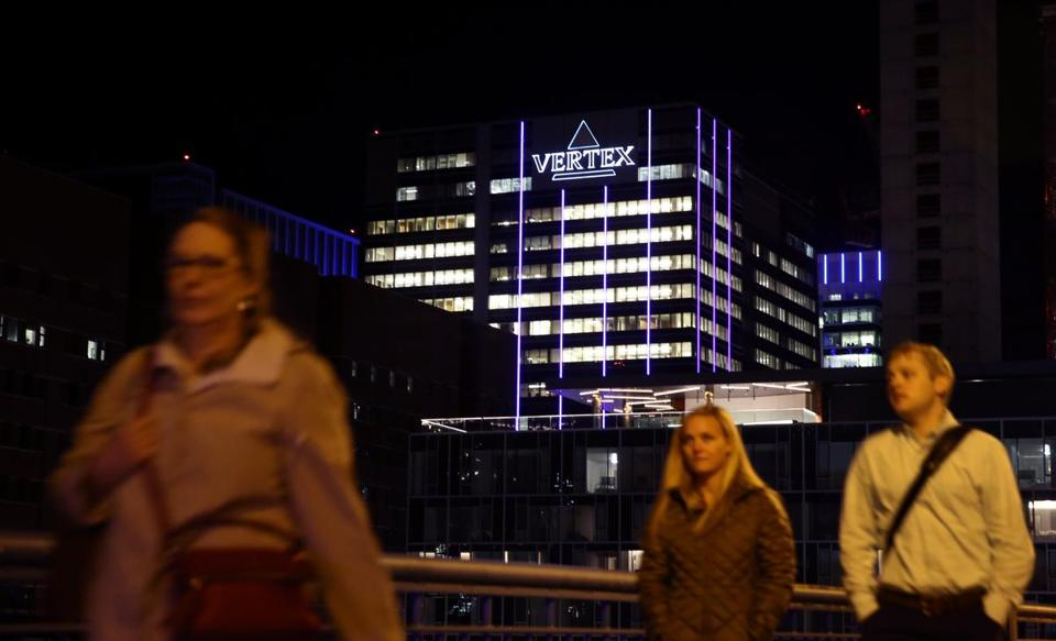 Boston, MA 11/20/2015 Ð The Vertex (Vertex Pharmaceuticals Inc.) building at 50 Northern Ave in Boston, MA on November 20, 2015. (Globe staff photo / Craig F. Walker) section: Business reporter: Chesto Vertex