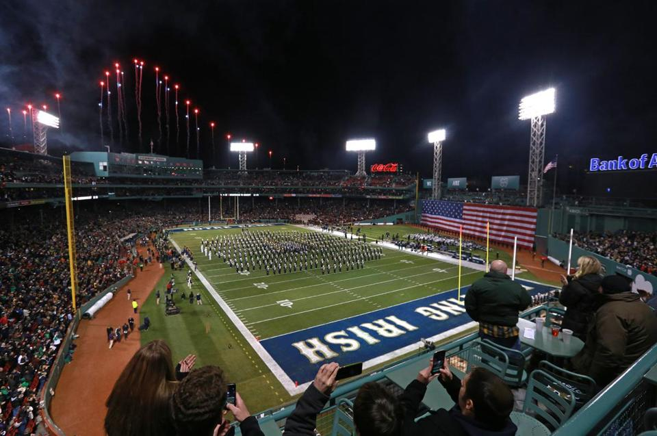 Football returned to Fenway two years ago when Boston College played Notre Dame.