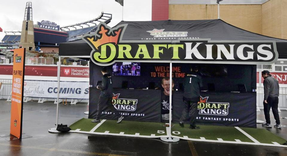 DraftKings promotional tent in Gillette Stadium parking lot