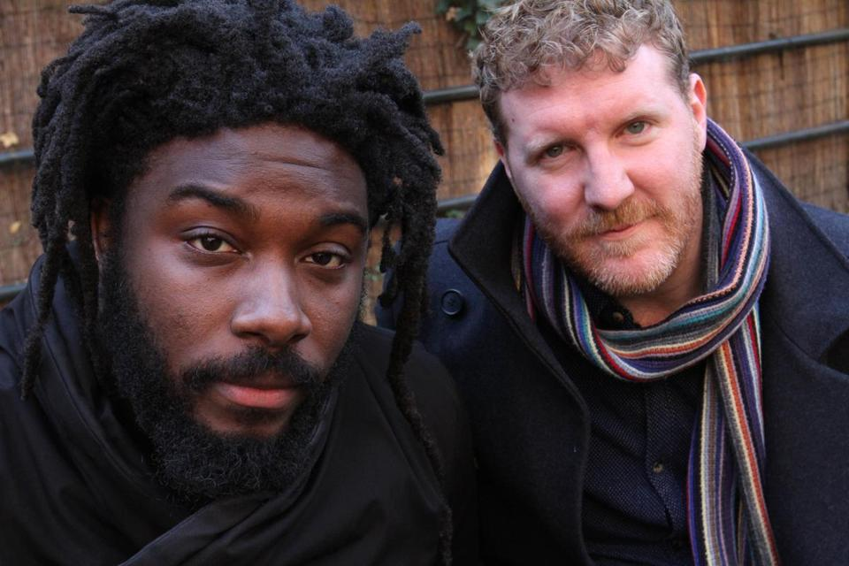 "Jason Reynolds (left), who grew up outside Washington, D.C., and Brendan Kiely, a native of Melrose, have coauthored ""All American Boys."""