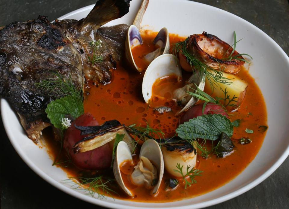 Cambridge Ma 08/20/2015 Soupe de Poisson at at Shepard Restaurant .Staff/Photographer Jonathan Wiggs Topic: Reporter