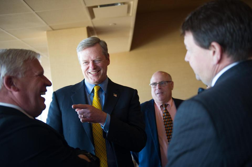 Governor Charlie Baker attended a United Regional Chamber of Commerce luncheon at Plainridge Park Casino last week.