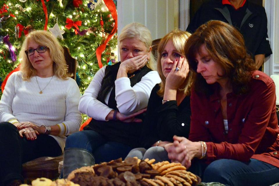 From left: Laurie Bono of Marshfield, Karen Herrand of Cotuit, Linda Cubellis of Bourne, and Lisa Murphy of Mashpee watched the documentary.