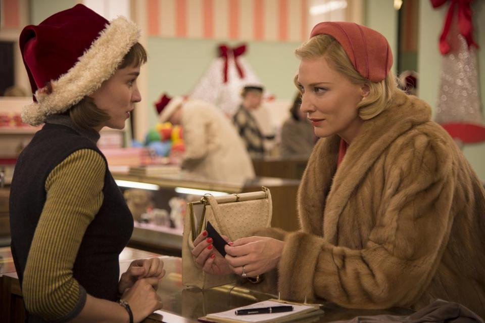 ROONEY MARA and CATE BLANCHETT star in the 2015 film CAROL, directed by Todd Haynes. 20Haynes