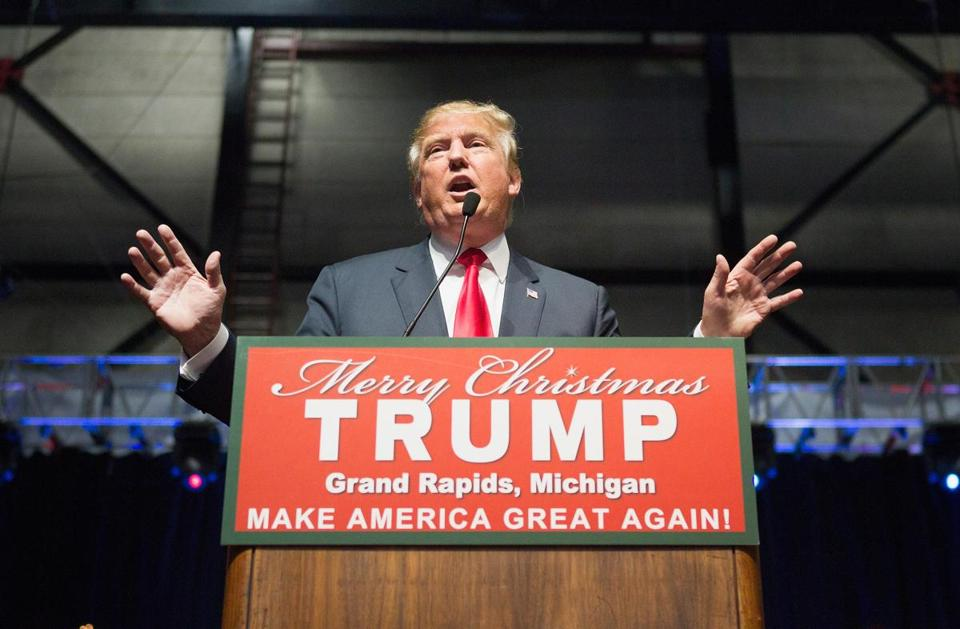 Republican presidential candidate Donald Trump spoke at a campaign event this week.