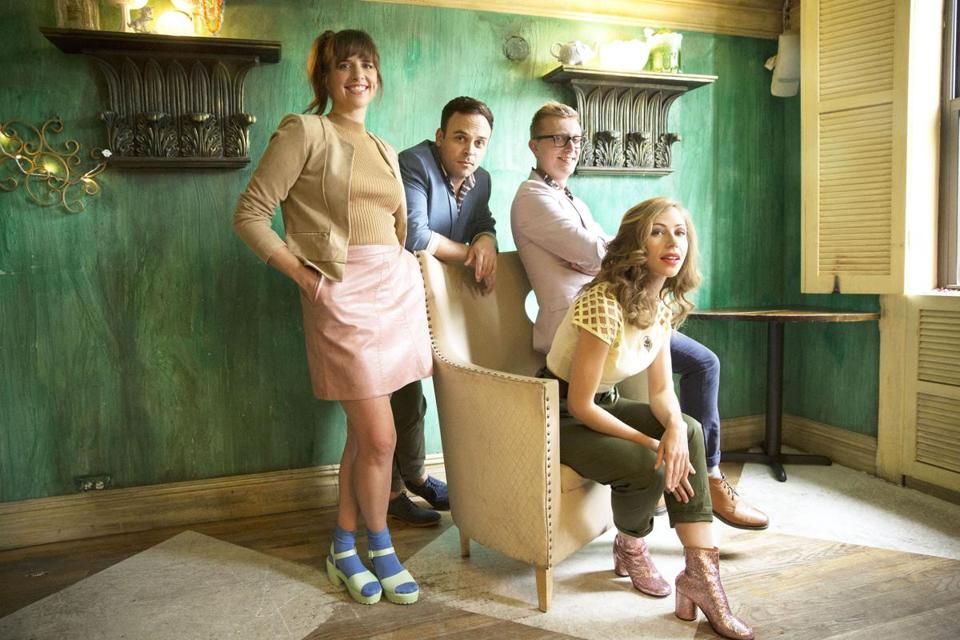 Lake Street Dive is (from left) Bridget Kearney, Mike Calabrese, Mike Olson, and Rachael Price.
