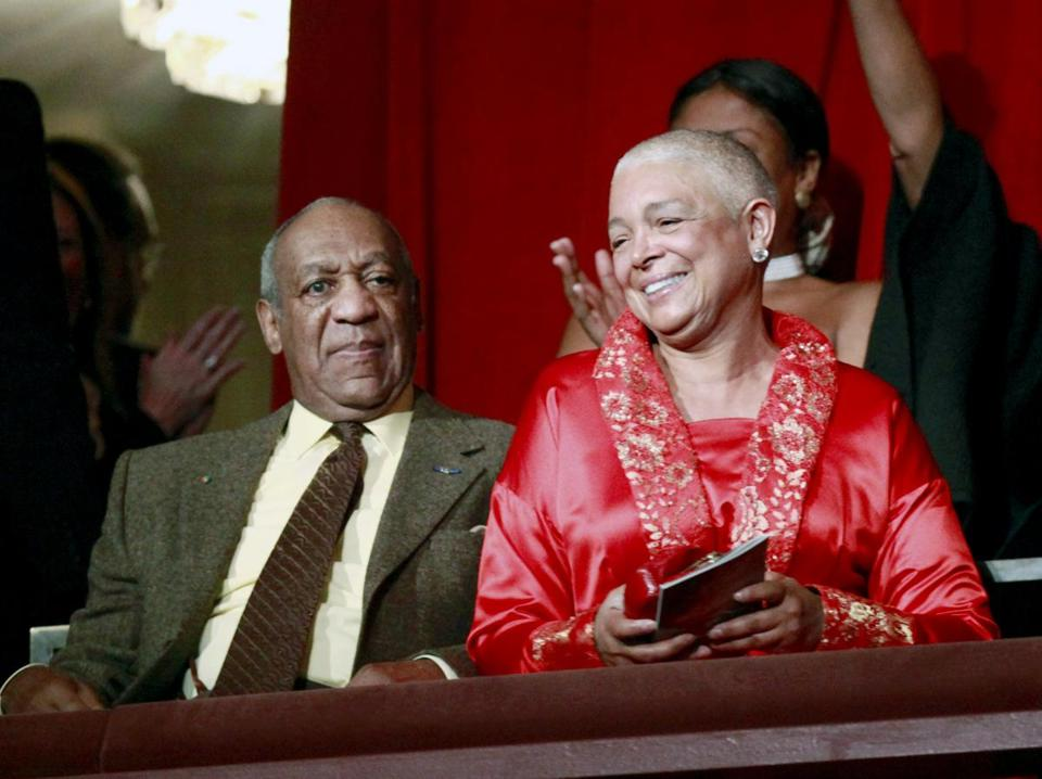 Bill Cosby and his wife Camille were at the John F. Kennedy Center for Performing Arts before Bill Cosby received the Mark Twain Prize for American Humor in Washington in 2009.