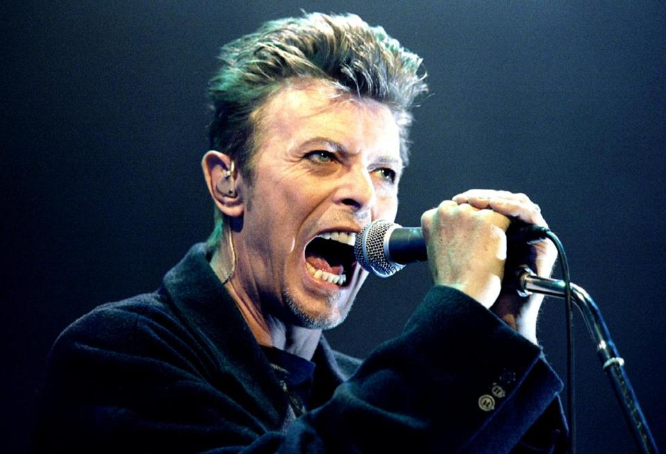 David Bowie performed in Vienna, Austria, in 1996.