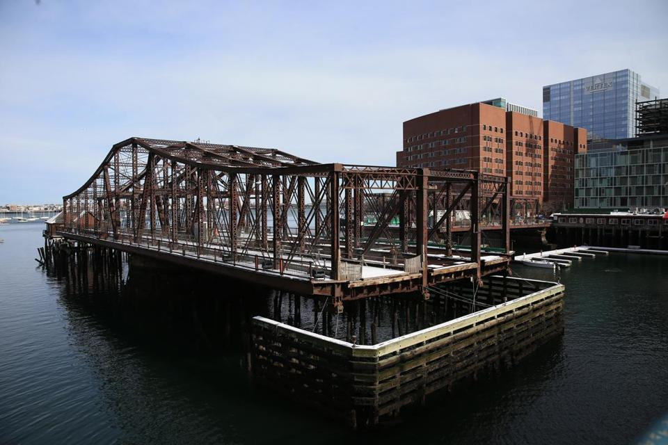 The Old Northern Avenue Bridge closed in December 2014 due to safety concerns.
