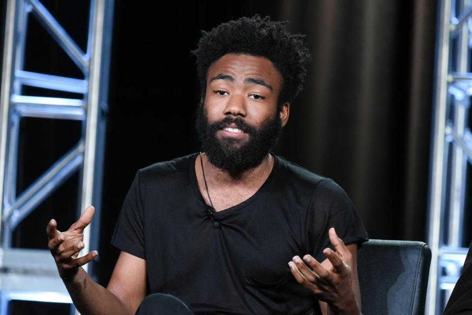 "Donald Glover participated in the ""Atlanta"" panel at the FX Networks Winter TCA on Jan. 16 in Pasadena, Calif."