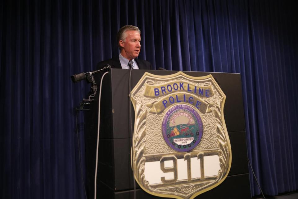 Brookline Police Chief Daniel O'Leary spoke to the media Thursday about Wednesday's violence.