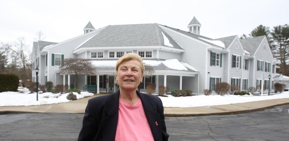 Eileen Marum, a retiree who serves on the Marion Planning Board, lives at Marconi Village, one of three affordable-housing complexes built in Marion in recent years.
