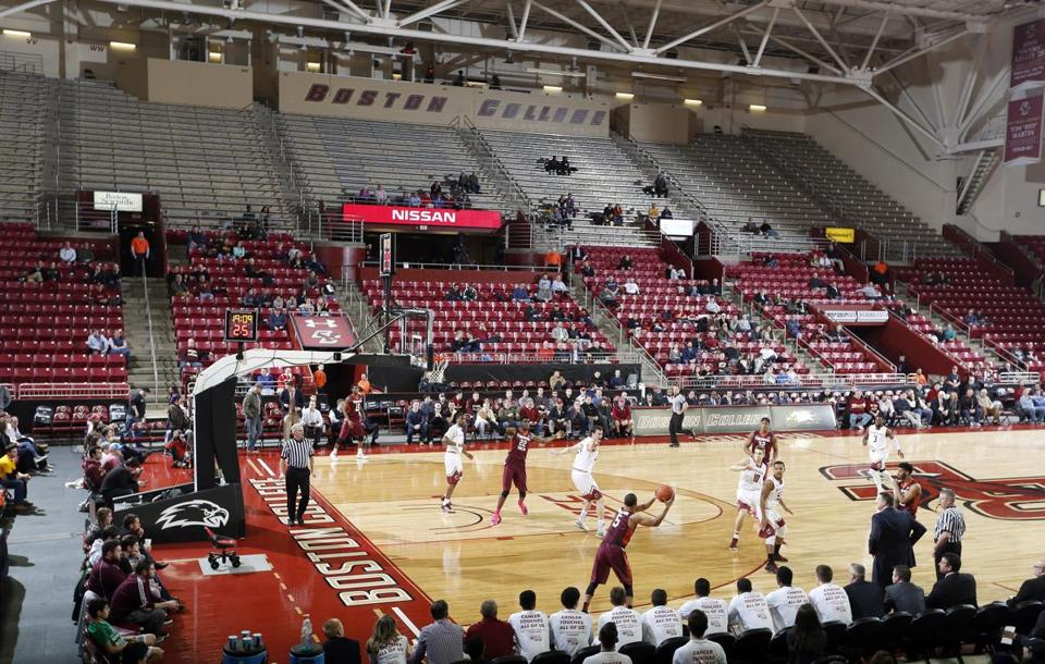 Conte Forum was mostly empty for this men's basketball game against Virginia Tech.