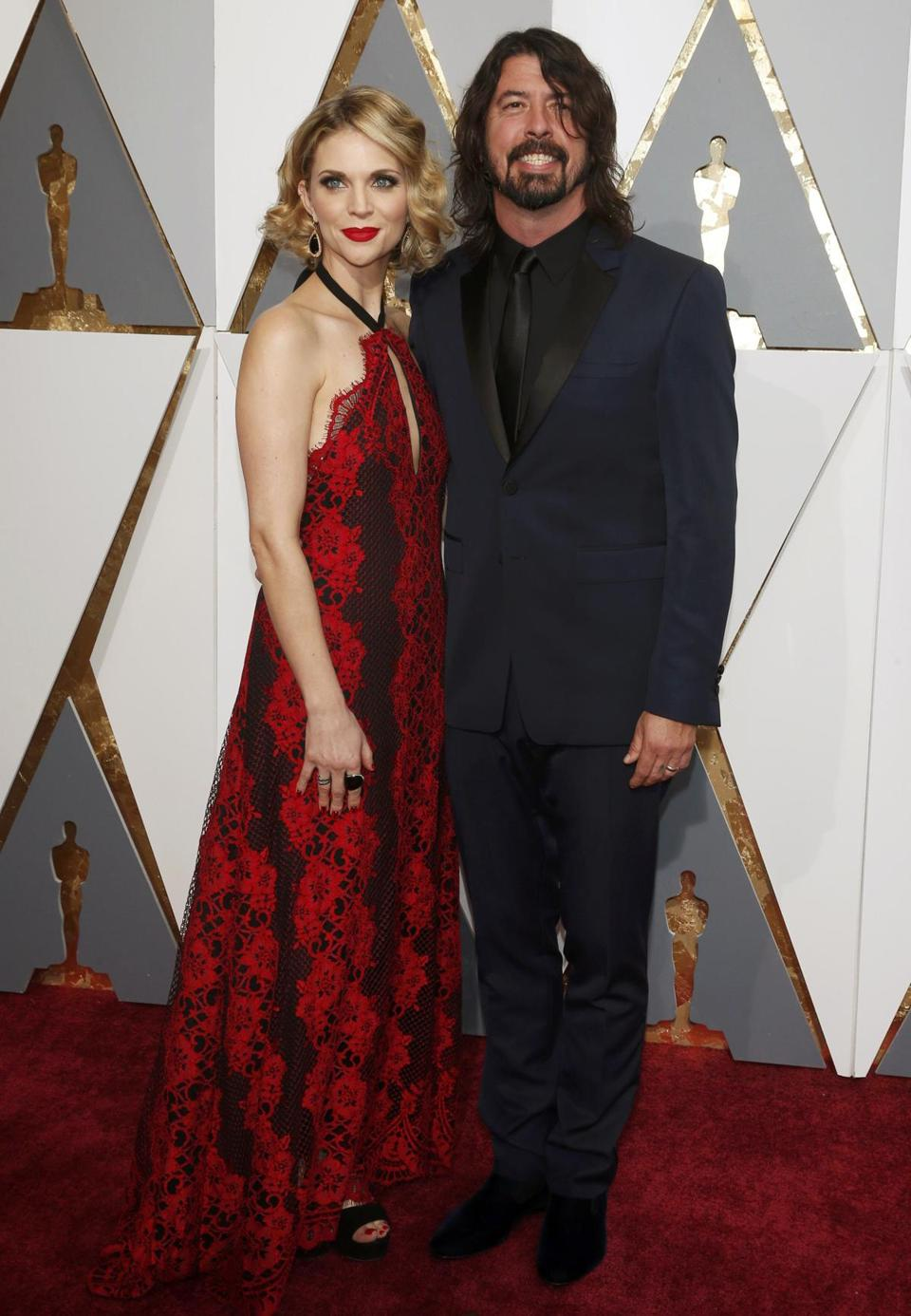 Dave Grohl of the Foo Fighters and wife Jordyn Blum.