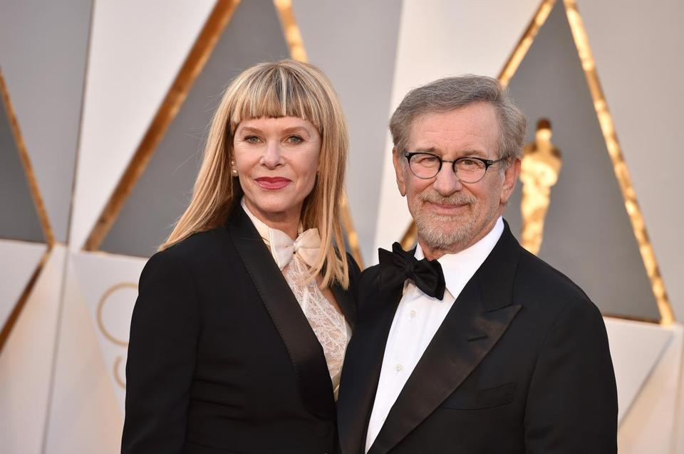 Kate Capshaw (left) and Steven Spielberg.