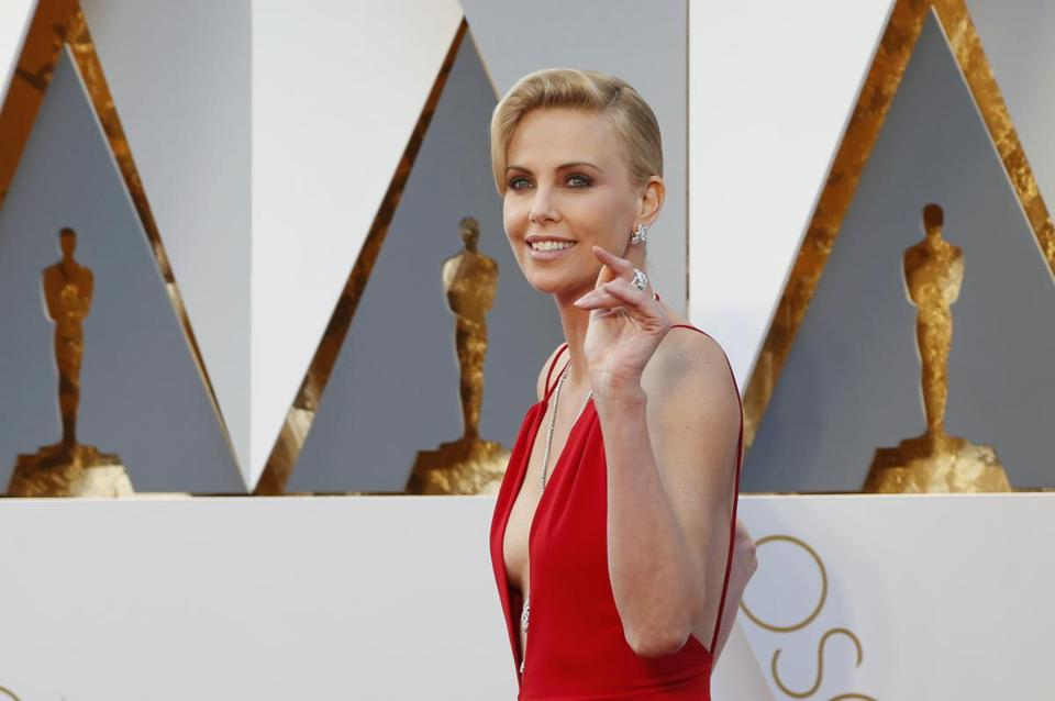 Presenter Charlize Theron.