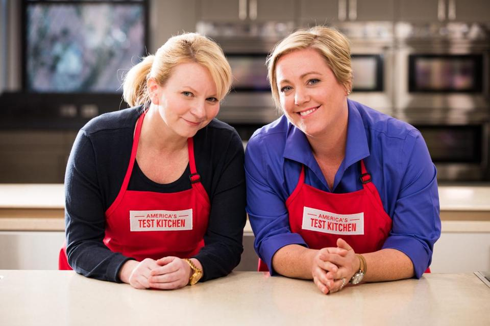 "Bridget Lancaster (left) and Julia Collin Davison will be the new hosts of ""America's Test Kitchen'' for 2017."