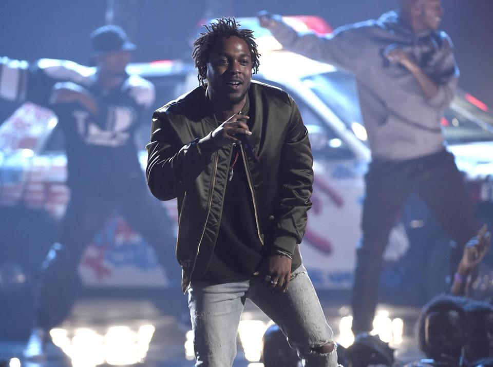 Kendrick Lamar, pictured performing at the BET Awards in Los Angeles last June.