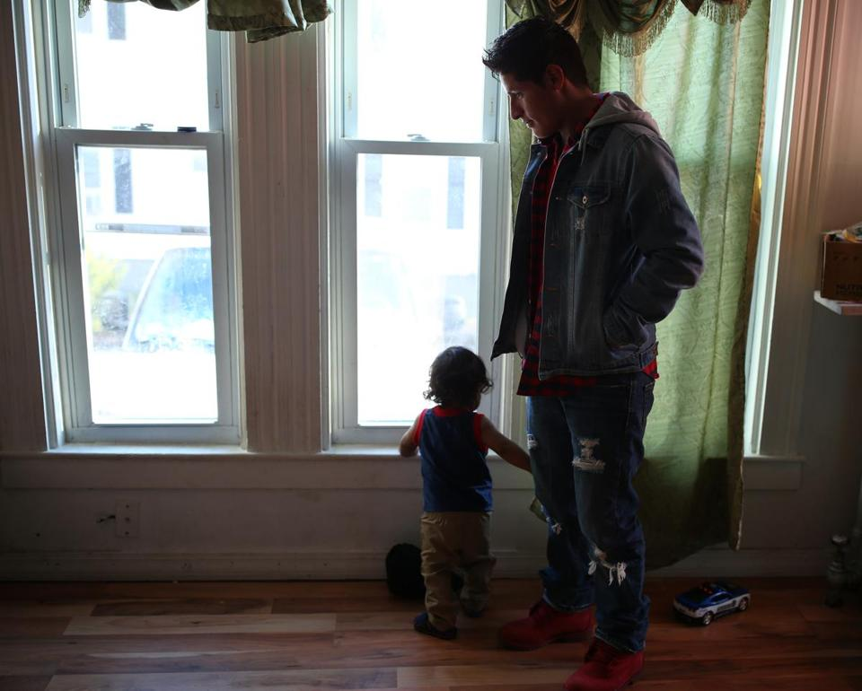 Mayancela and his little brother Filemon, 14 months, spent time together at Mayancela's Brockton home.