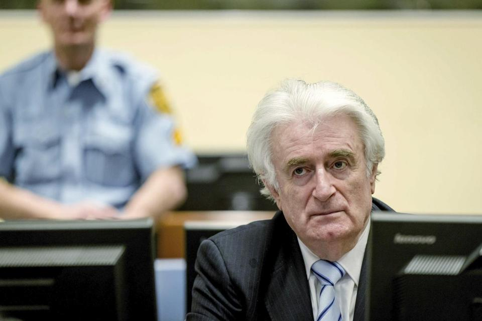 Radovan Karadzic, the former Bosnian Serb leader, was convicted of genocide, war crimes, and crimes against humanity by a United Nations tribunal.