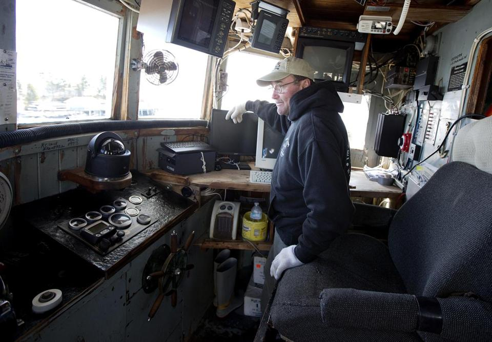 Randy Cushman is among the fishermen taking part in a new test program for an electronic monitoring system.